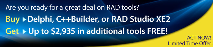 Are you ready for a great deal on RAD tools?