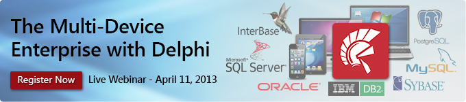 The Multi-Device Enterprise with Delphi - April 11, 2013
