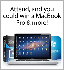 Attend, and you could win a MacBook Pro & more!