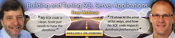 Building and Tuning SQL Server Applications Free On-Demand Webinar