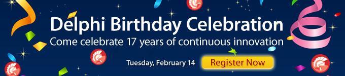 Delphi Birthday Celebration - Register Now