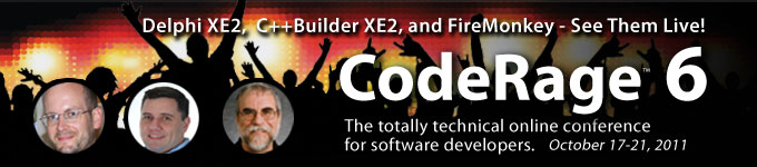 CodeRage 6 - October 17-21, 2011