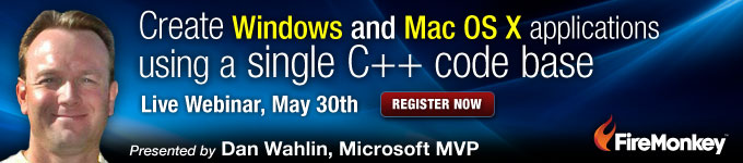 Create Windows and Mac OS X applications using a single C++ codebase - Live Webinar May 30th