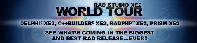 RAD Studio XE World Tour