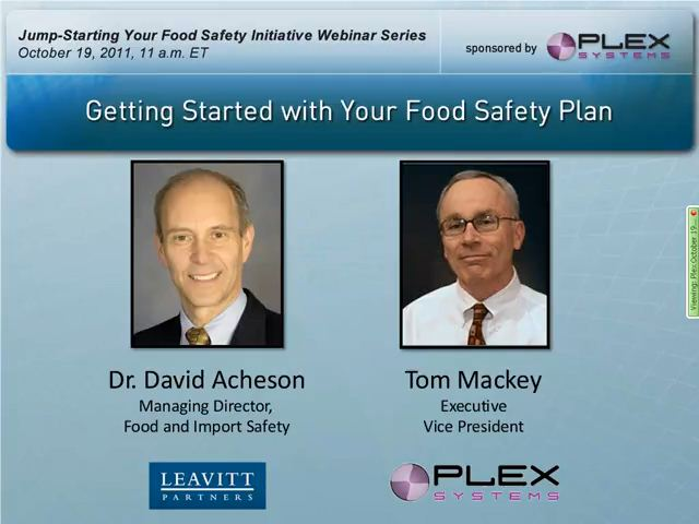 Food Safety Plan Recording Image