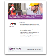 Plex Online allows PGS to Expand While Minimizing Costs and Personnel in All Three Divisions