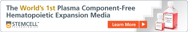 The WORLD'S FIRST Plasma Component-Free Hematopoietic Expansion Media. Come learn more.