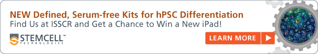 NEW Defined, Serum-Free Kits for hPSC Differentiation. Find Us at ISSCR and Get a Chance to Win a New iPad!