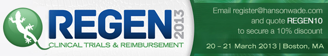 REGEN 2013 - Clinical Trials & Reimbursement