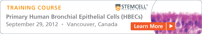 Register for Training Course: Air-Liquid Interface Culture of Primary Human Bronchial Epithelial Cells