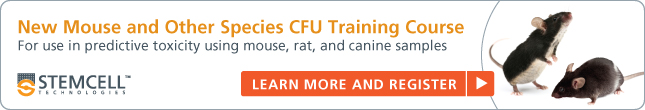 Register for new mouse/rat HSC CFU training course.