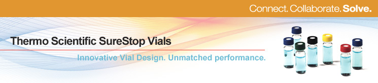 Thermo Scientific Chromacol SureStop Vials.