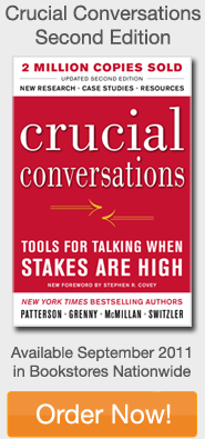Order Crucial Conversations Second Edition at www.crucialconversations.com