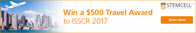 Enter to win a $500 travel award for ISSCR 2017 in Boston!
