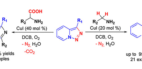 Copper-Catalyzed Denitrogenative Transannulation Reaction of Pyridotriazoles: Synthesis of Imidazo[1,5-a]pyridines with Amines and Amino Acids