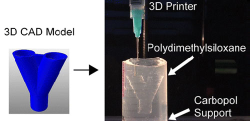 3D Printing PDMS Elastomer in a Hydrophilic Support Bath via Freeform Reversible Embedding