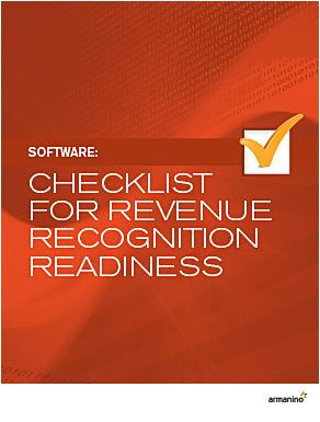 Armanino's Software Revenue Recognition Checklist