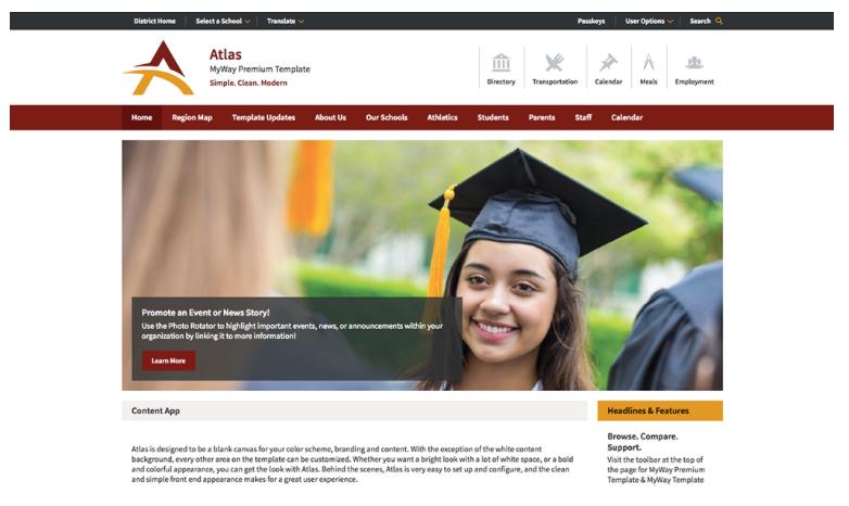 Atlas MyWay Premium Design Template