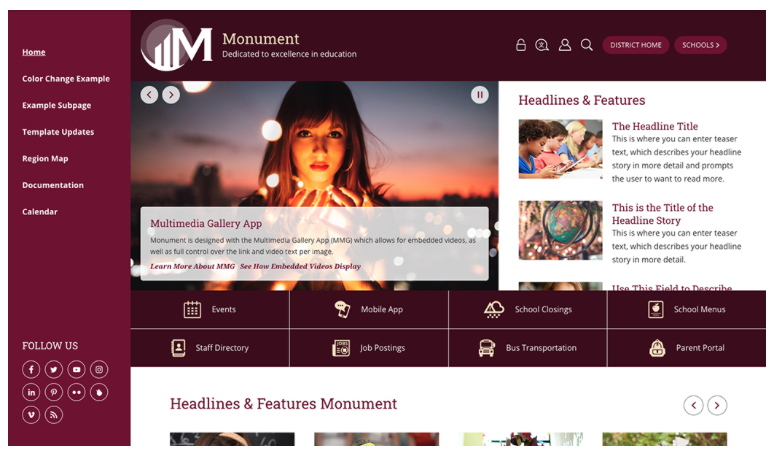 Monument MyWay Premium Design Template