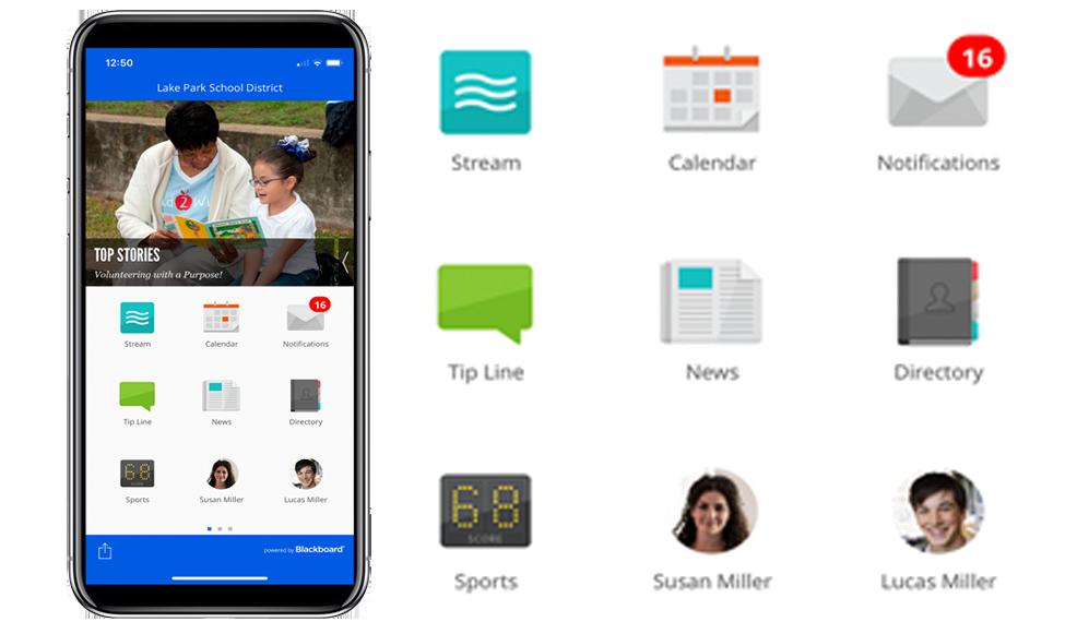 Blackboard Mobile user interface