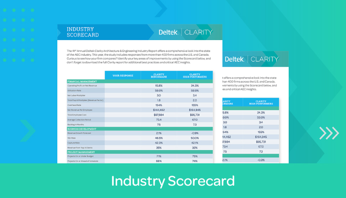 Deltek Clarity Industry Survey Scorecard