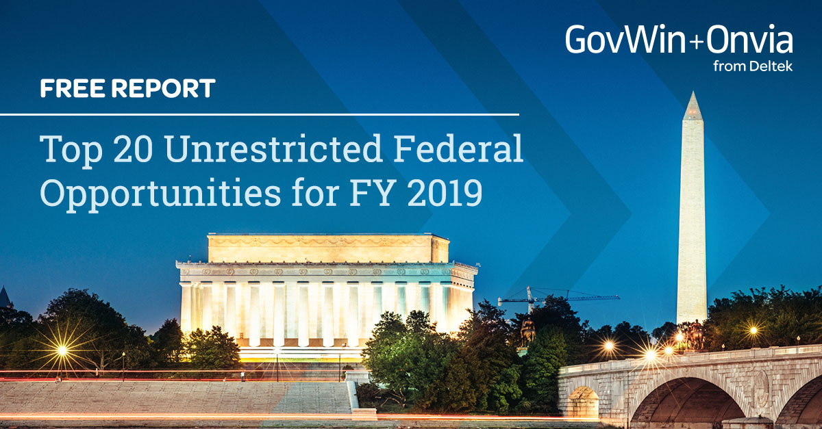 Top 20 Unrestricted Federal Opportunities for FY 2019