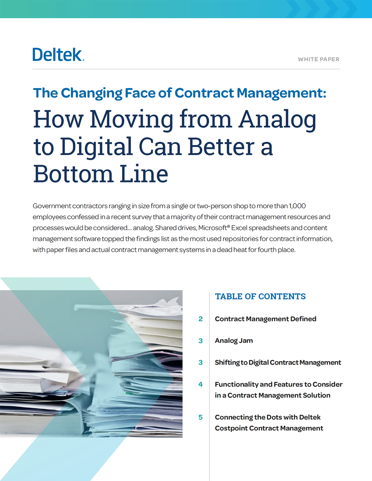 White Paper: Changing Contract Management