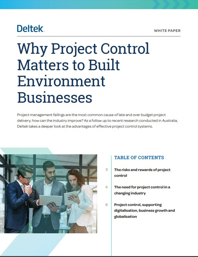 White Paper: Why Project Control Matters to Built Environment Businesses