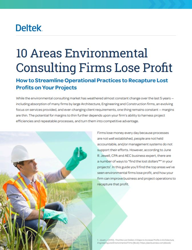 10 Areas Environmental Consulting Firms Lose Profit