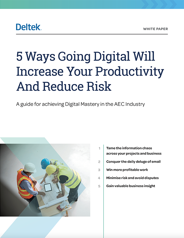 5 ways going digital will increase productivity and reduce risk