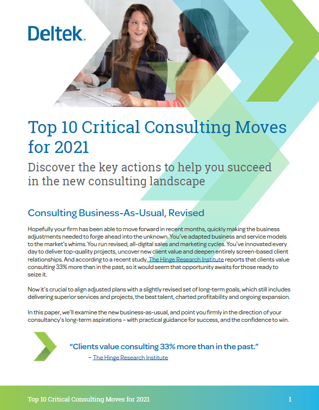Top 10 Critical Consulting Moves for 2021