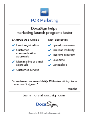 DocuSign for Marketing Use Case