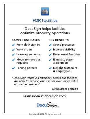 DocuSign for Facilities Use Case