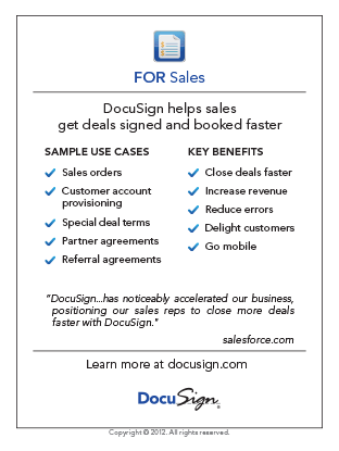 DocuSign for Sales Use Case