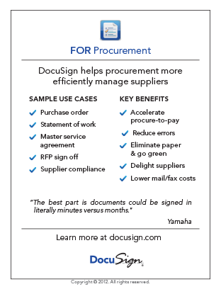 DocuSign for Procurement Use Case