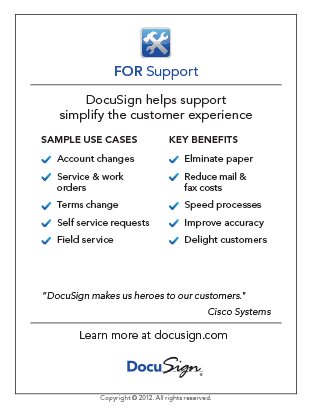 DocuSign for Support Use Case