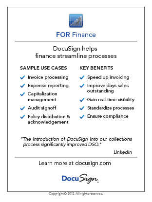 DocuSign for Finance Use Case