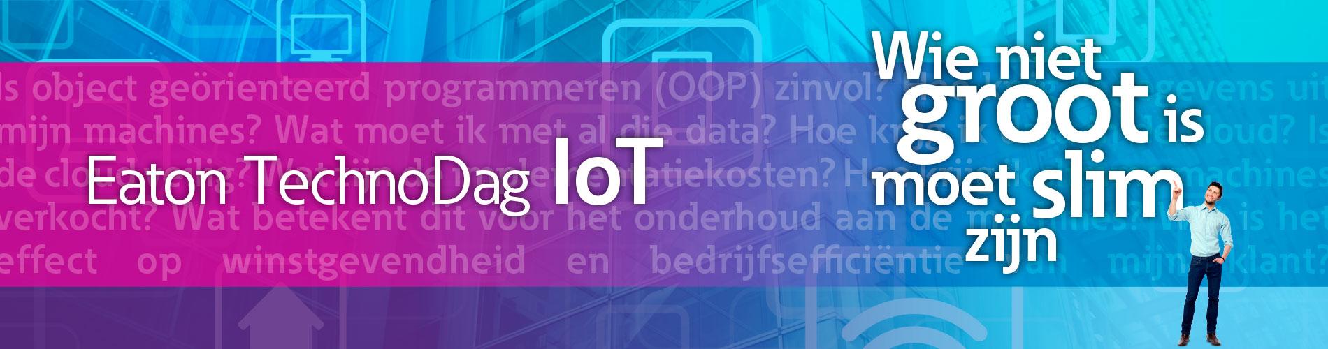Kom naar de Eaton Technodag IoT voor machinebouw