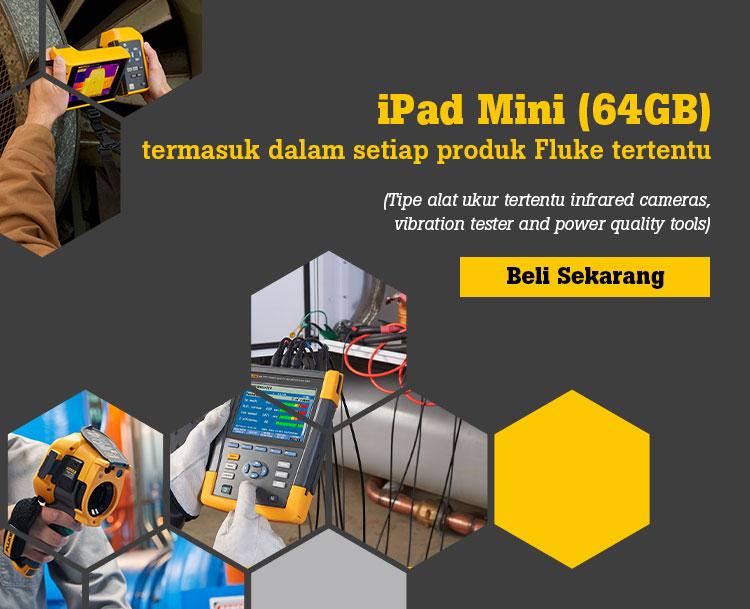 iPad Mini (64GB) termasuk dalam setiap produk Fluke tertentu