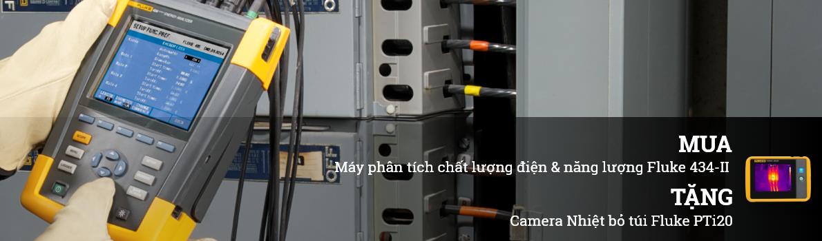 MUA Máy phân tích chất lượng điện & năng lượng Fluke 434-II TẶNG Camera Nhiệt bỏ túi Fluke PTi20