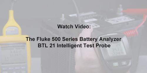 The Fluke 500 Series Battery Analyzer BTL 21 Intelligent Test Probe