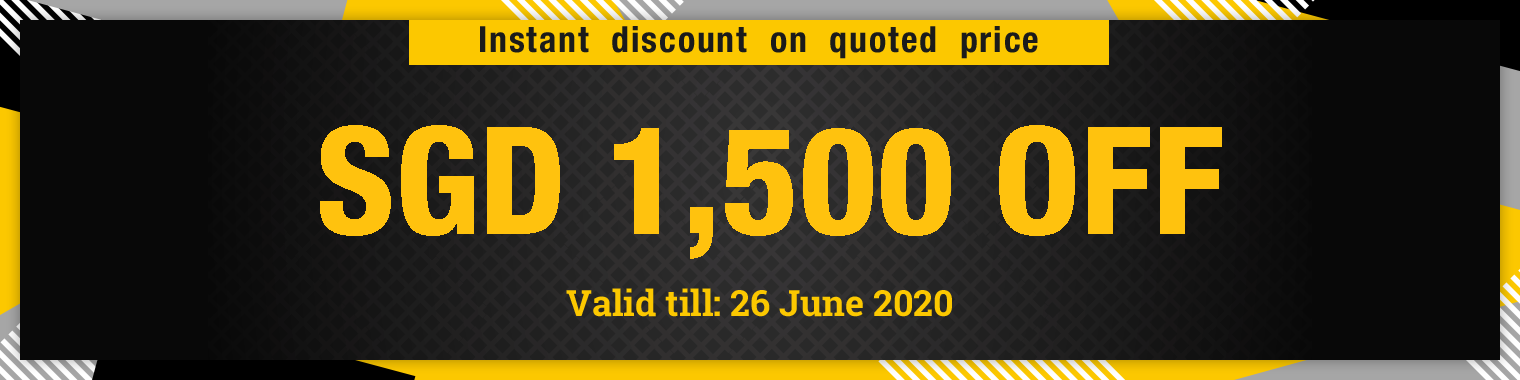 Instant discount on quoted price SDG 1,500 OFF, valid till 26 June 2020