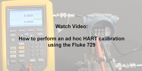 How to perform an ad hoc HART calibration using the Fluke 729
