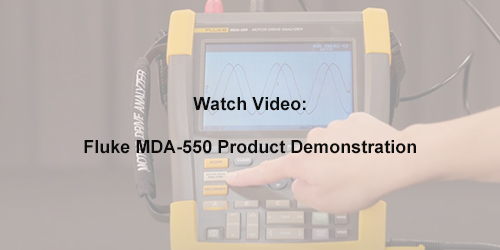 Fluke MDA-500 Series Product Demonstration Video