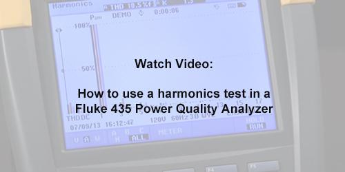 How To Use A Harmonics Test In A Fluke 435 Power Quality Analyzer