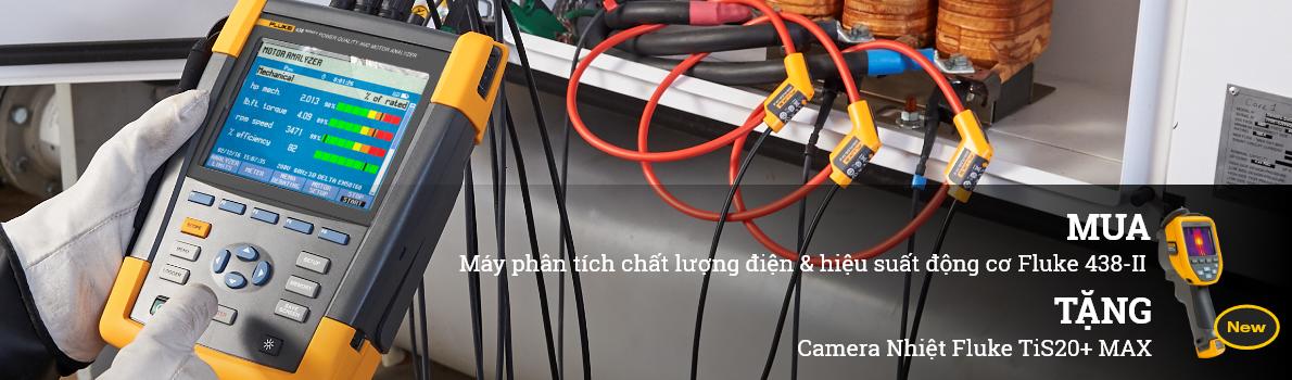 MUA Máy phân tích chất lượng điện & hiệu suất động cơ Fluke 438-II TẶNG Camera Nhiệt Fluke TiS20+ MAX