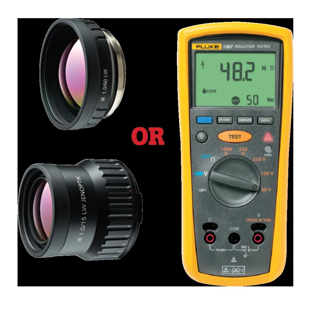 Fluke 2x Telephoto Infrared Smart Lens or Fluke Wide Angle Infrared Smart Lens or Fluke 1507