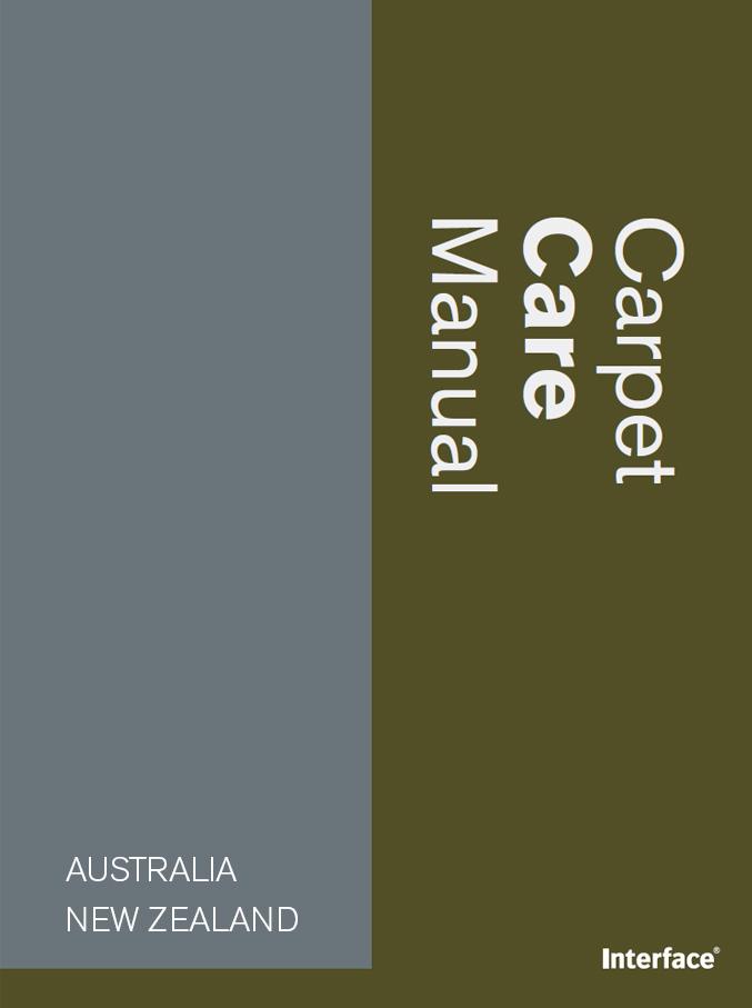 Carpet Care Manual