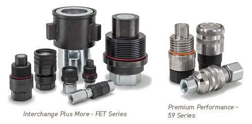 Non-Spill Threaded Quick Connect Hydraulic Couplings from Parker