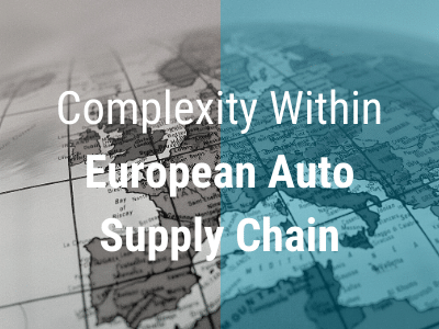 Complexity Within European Auto Supply Chain